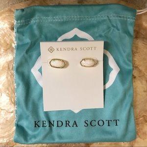 Kendra Scott Ellie Stud Earrings in White Opal